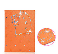 Diamond Shining Cute Cat Flip Case Cover for iPad Air(Assorted Colors)