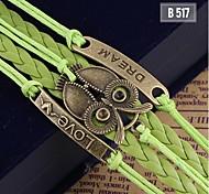 Women Fashion Handmade Woven Bangle Metal Bracelet Jewelry