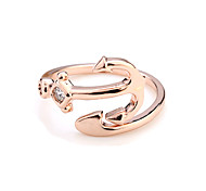 Rose gold plated ring CZ jewelry