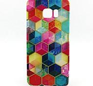 Sechskant-Muster-TPU weiche Tasche für Samsung Galaxy S6 Kante sowie
