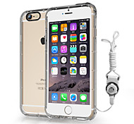B.O.W HT001   Crashproof  Soft Silicone Cover Case With  Lanyard For iPhone 6 4.7'' -Transparent