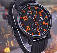 marca v6 grande mostrador de relógio de quartzo esportes correia de borracha de lazer