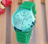 simple dial fashion ladies quartz watch Personality silicone strap ladies watch watch new fashion