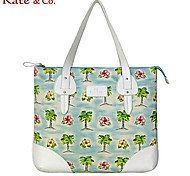 Kate & Co.® Femme PVC / Toile Cabas Vert / Orange - KF-04463