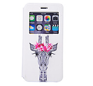 Giraffe Pattern Window Bracket Section Full Package Phone Case for iPhone 6S
