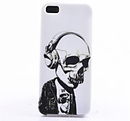 For iPhone 5 Case Pattern Case Back Cover Case Skull Soft TPU iPhone SE/5s/5