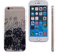 Lace Flower Pattern Slim Transparent TPU Material Soft Phone Case for iPhone 5/5S