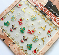 3D Gilding Christmas Series Small Bell Nail Art Stickers