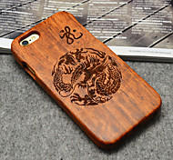 Wood Loong Chinese Dragon Oriental Culture Hard Back Cover for iPhone 5/5s