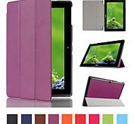 Custodia in pelle tripla modello pieghevole di alta qualità da 10.1 pollici per Acer Iconia Tab 10 a3-A30 (colori assortiti)