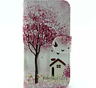 Pfirsichblüten-Muster PU-Leder-Tasche für Samsung Galaxy S6 / S6 Galaxienrand / galaxy s6 Kante sowie