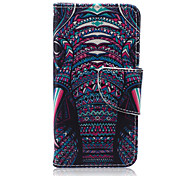Elephant Pattern PU Leather Full Body Case for iTouch 5