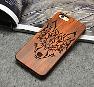 Wooden iphone Case Timberwolves Forest Wolf Totem Hard Back Cover for iPhone 5/5S/SE