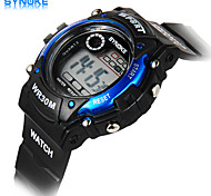 SYNOKE Men's Round Dial Casual Watch PU Strap Electronic watch Fashion Wrist Watch (Assorted Colors)