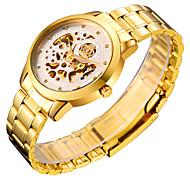 Herrenuhr Stahlhohl mechanische wasserdicht Erhaltung Business gold goldene Uhr