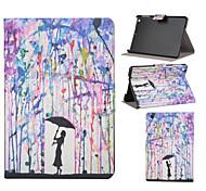 patrón de la muchacha lluvia cuero de la PU caso de cuerpo completo con ranura de soporte para iPad mini / Mini ipad 2 / ipad Mini 3