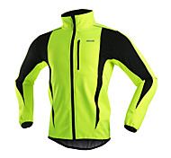 Arsuxeo Men's Fleece Jacket Warm Winter Thermal Bicycle Cycling Running Windproof Jacket