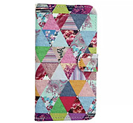 Box  Pattern With Diamond PU Leather Phone Case For Samsung Galaxy S5 /S6 /S6 edge