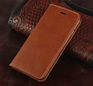 rétro véritable cuir flip couvercle du boîtier portefeuille du logement de carte Stand pour iPhone 6 plus (couleurs assorties)