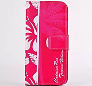 Tropical Tree Pattern PU Leather Full Body Case with Card Slot for iPhone 4/4S