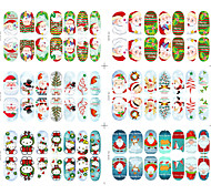 6Style Mixed  Christmas Series  glow in the dark Nail Sticker