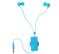 Leapower Universal Creative Retractable 3.5mm Stereo In-ear Earphone with Clip Blue