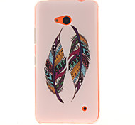 Colored Feather Patterns TPU + IMD Phone Case For Nokia N640