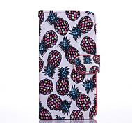 Для Кейс для Motorola Кошелек / Бумажник для карт / со стендом / Флип Кейс для Чехол Кейс для Фрукт Твердый Искусственная кожа Motorola
