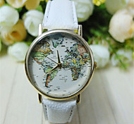 Unisex World Map Style Watch/Vintage World Map/Antique World Map/ Ladies Watch/ Women Premium Faux Leather Wrist Watch Cool Watch Unique Watch
