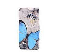 Schmetterlingsmuster PU-Leder Ganzkörper-Fall mit Ständer für den iPod touch 5/6
