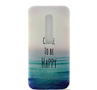 Happy Sea Pattern TPU Soft Cover Case for Motorola MOTO G3 3rd Gen