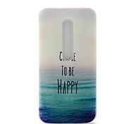 Happy Sea Pattern TPU Soft Cover Case for Motorola MOTO G3 3rd Gen