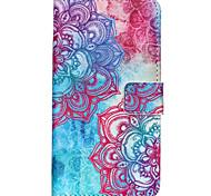 Для Кейс для Motorola Кошелек / Бумажник для карт / со стендом / Флип Кейс для Чехол Кейс для Мандала Твердый Искусственная кожа Motorola