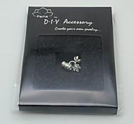 DIY Silver Charm Accessory-Dual Flower