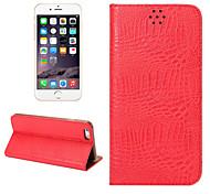 New Crocodile Pattern PU Leather Case Card Slots with Holder for iphone 6 6S (Assorted Colors)