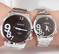 Couples Fashion Steel Belt  Quartz Wrist Watch