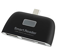 Micro USB OTG Smart Reader / SDHC / MS / MMC / M2 / TF / U Flash Disk for Android phone/Tablet
