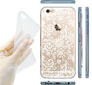 maycari® verträumten Blumen transparente TPU Tasche für iPhone 6 / iphone 6s