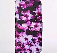 Beautiful Peach Blossom Pattern PU Leather Full Body Case with Card Slot for iPhone 6