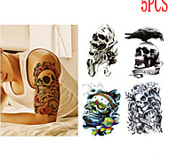 Outros Tatuagem Adesiva - Non Toxic/Estampado/Tamanho Grande/Lombar/Waterproof - para Feminino/Masculino/Adolescente - de Papel -