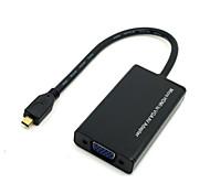 fuente hdmi micro activa a la salida VGA del monitor proyector adaptador de vídeo convetor con poder micro usb&audio