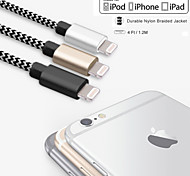 IMF 4ft certificada (1.2m) rayo de sincronización USB y cable de carga para el iPhone de Apple 5 / 5s / 6.6 plus Mini iPad /