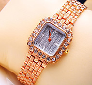 Women's New Luxury Trend Square Diamond Dial Fashion Quartz Bracelet Watch (Assorted Colors)