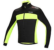 Santic Men's Cycling Fleece Jacket Warm Winter Thermal Bicycle Windproof