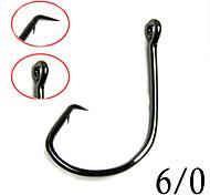 100Pcs Size 6/0# Sport Circle Hook Jig Big Baitholder Fishing Hooks Black Mix Size7381