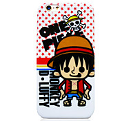 One Piece White Bottom Red Star OP TPU Soft Back Cover for iPhone 6
