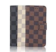 iphone 7 plus de 4,7 pouces cas en cuir PU portefeuille de luxe modèle de grille de haute qualité pour iPhone 6s 6 plus