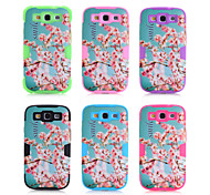 Plastic Silicone 3-in-1 Design Nationality Pattern Protective Hard Case Mobile phone for Samsung  Galaxy S3