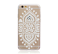 White Chinese Flowers Style Transparent Soft TPU Back Cover for iPhone 5C