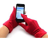 Outdoor Cycling Warm Velvet Gloves Lady Touch Screen Gloves